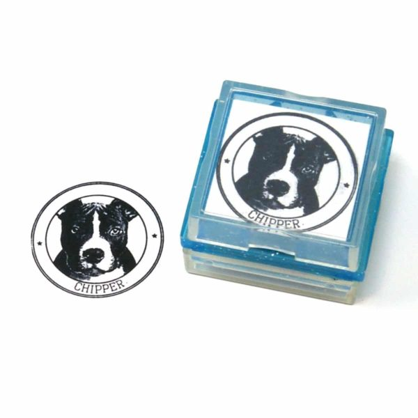 dog rubber stamp