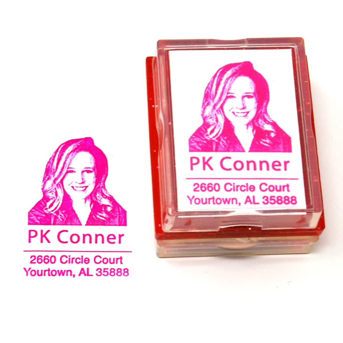 Selfie Return Address Rubber Stamp
