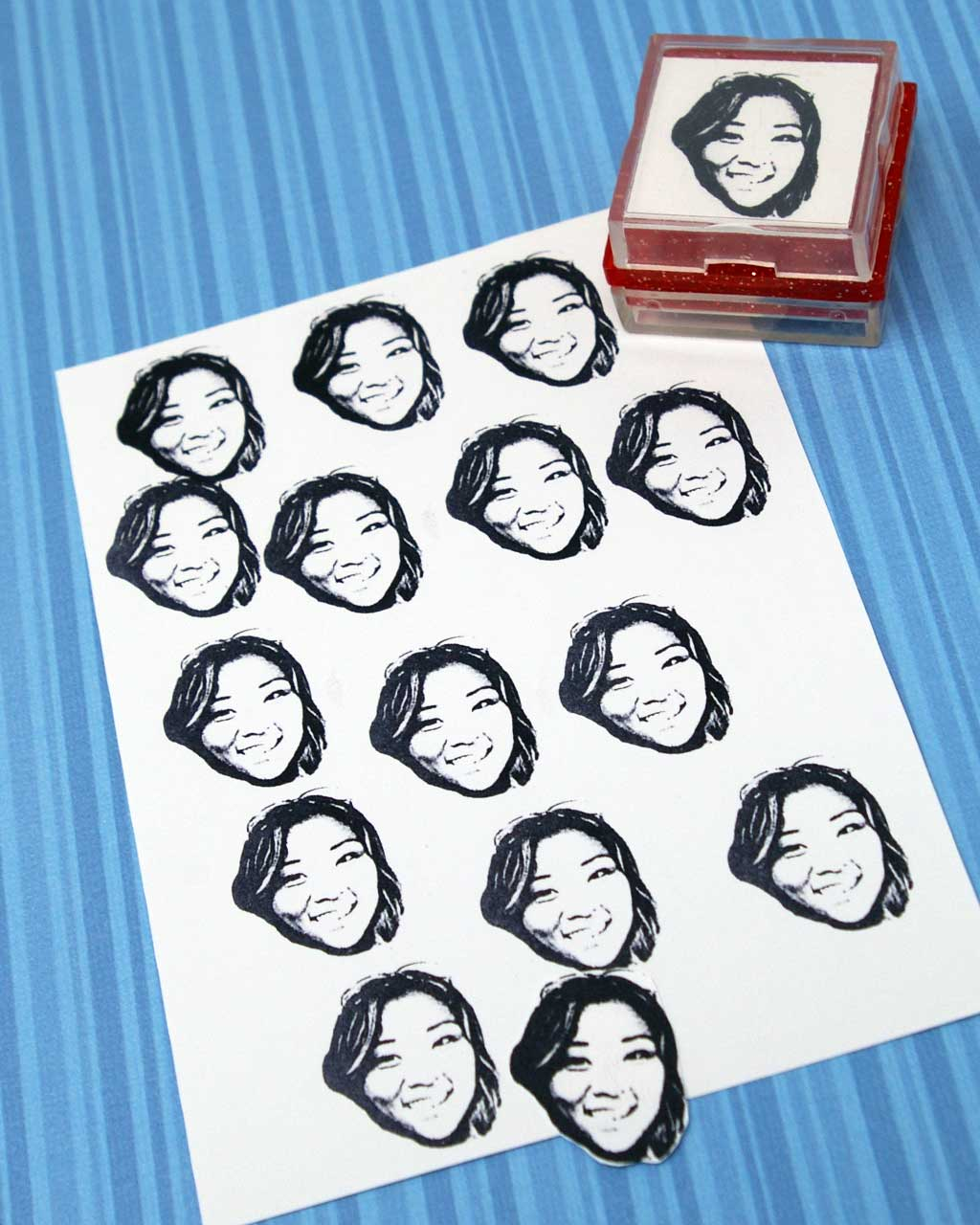 custom rubber stamp made from an image stampics rubber stamps