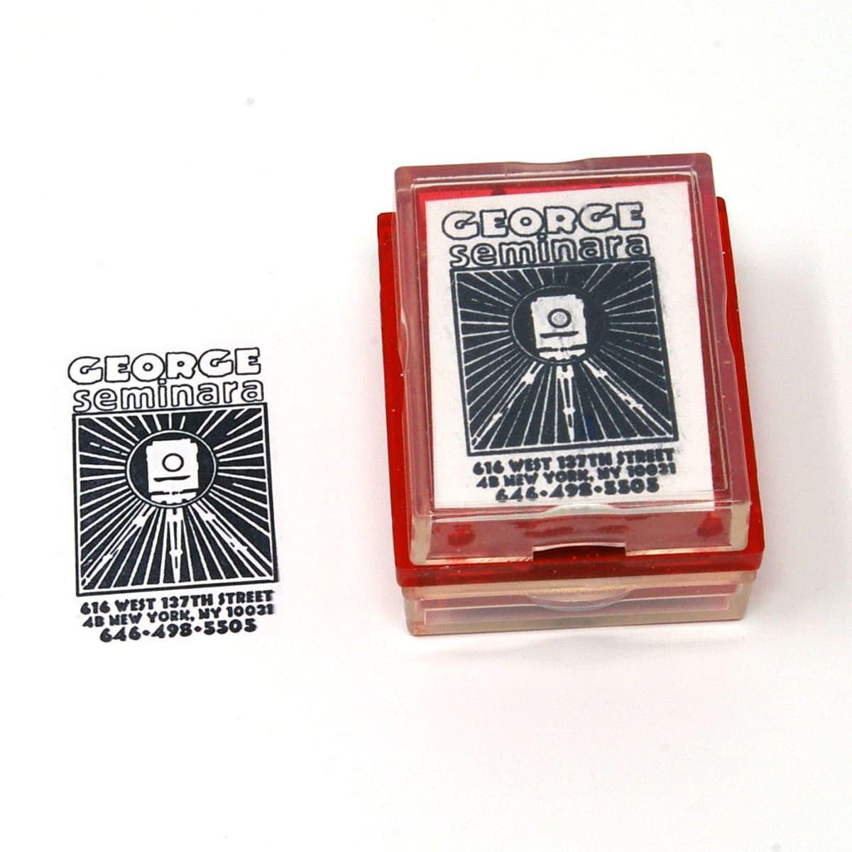 custom logo rubber stamp