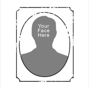 Your Face Here Rubber Stamp