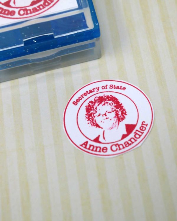 badge rubber stamp