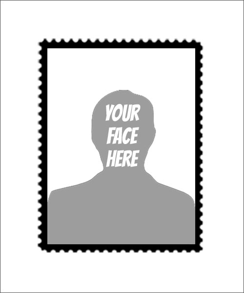 Stampics Tall Postage Rubber Stamp