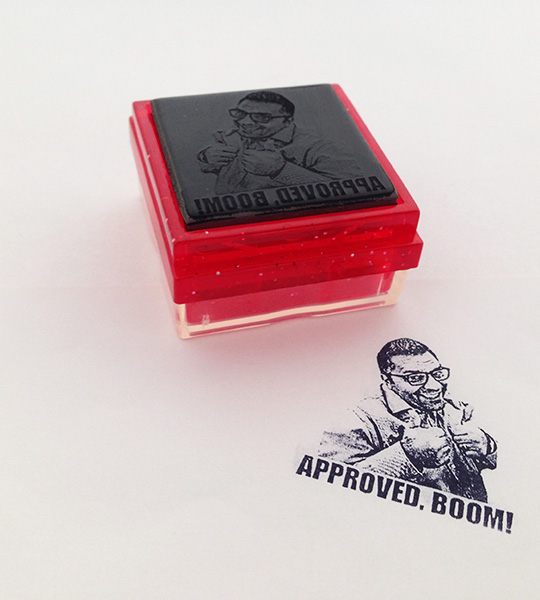 Approved BOOM rubber stamp