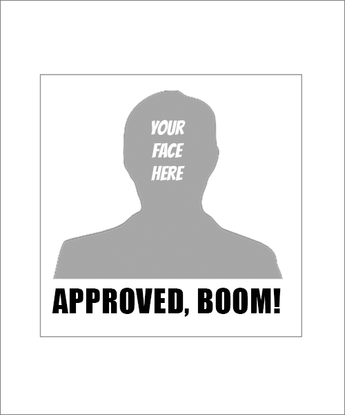 Stampics Approved Boom Rubber Stamp