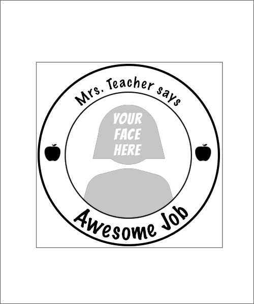 Stampics Teacher Rubber Stamp