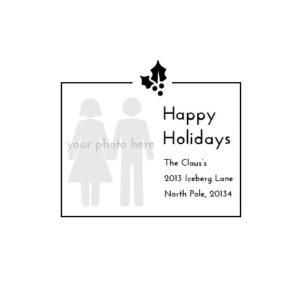 Stampics Holiday Return Address Rubber Stamp