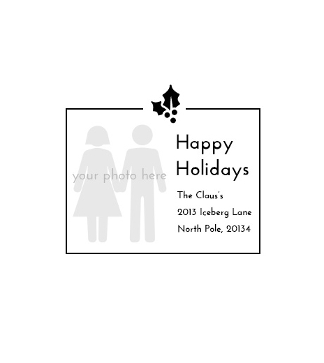 Stampics Holiday Return Address Rubber Stamp