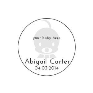 Stampics Birth Announcement Rubber Stamp
