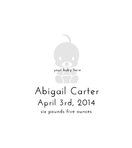Stampics Birth Announcement Rubber Stamp