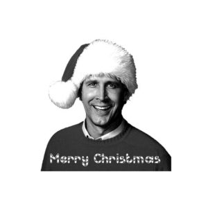 Clark Griswold Merry Christmas Rubber Stamp