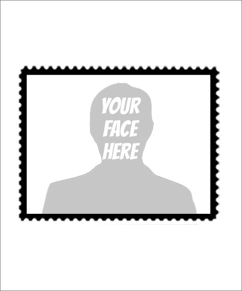 Stampics Wide Postage Rubber Stamp