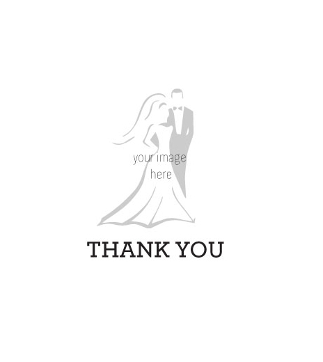 Thank you wedding rubber stamp