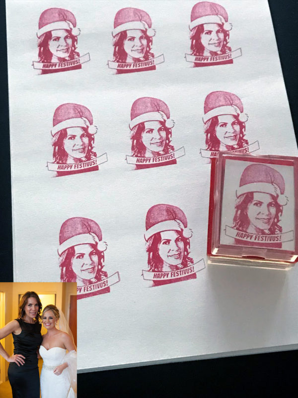 custom santa rubber stamp for christmas cards