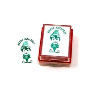 Christmas Card Rubber Stamp