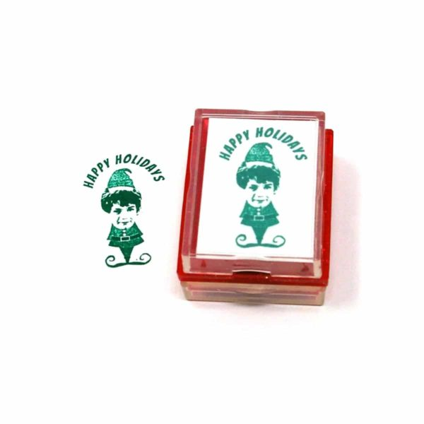 Christmas Elf Rubber Stamp