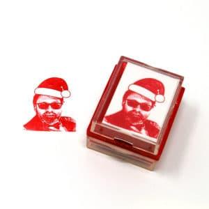 Custom Santa Rubber Stamp