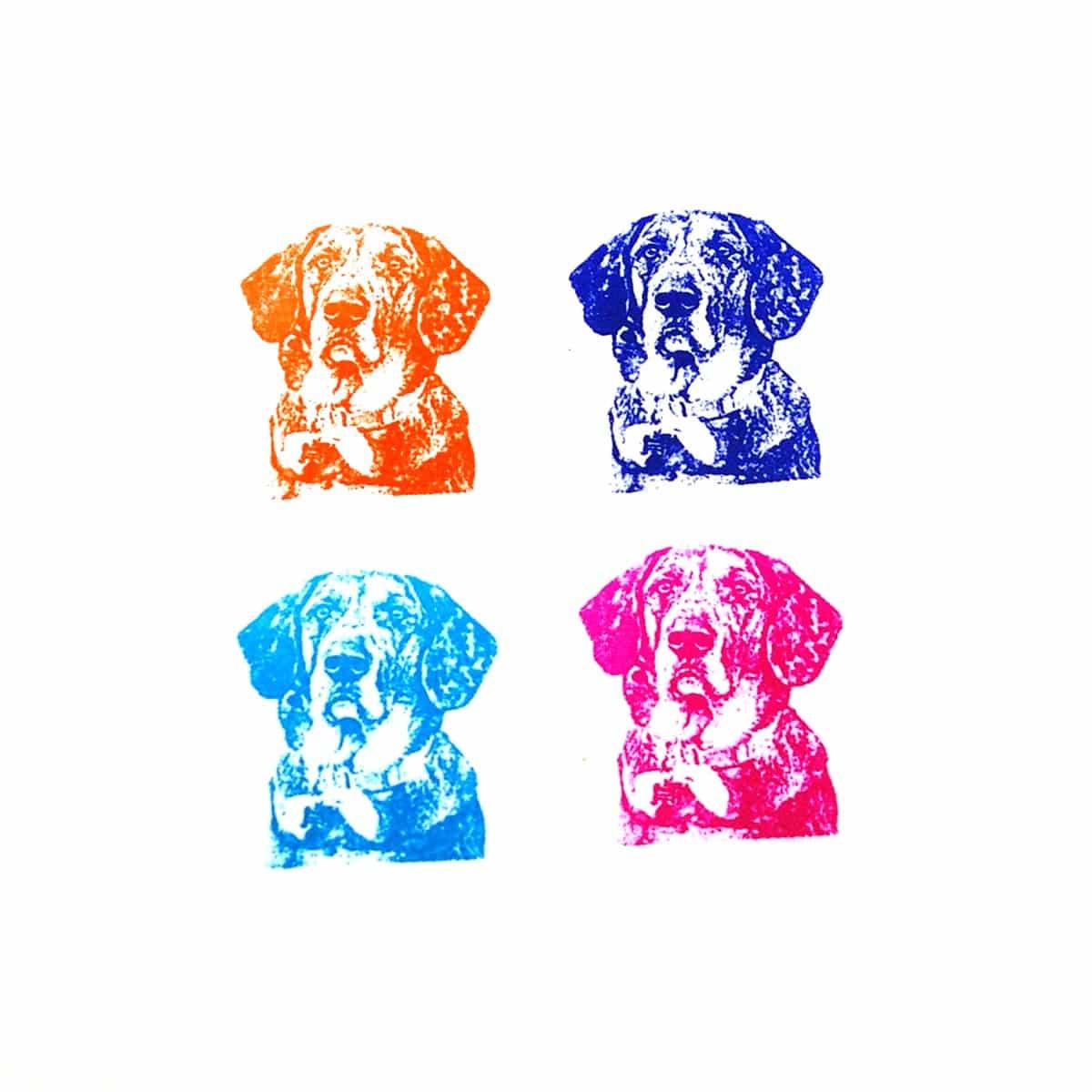 stampics custom rubber stamp pet dog