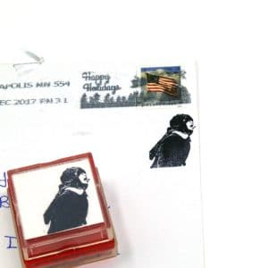 Christmas Card Rubber Stamps