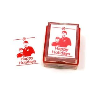 Custom Christmas Card Rubber Stamp