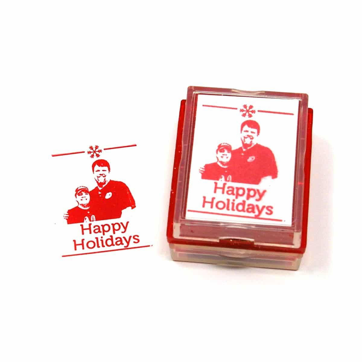Custom Christmas Card Rubber Stamp