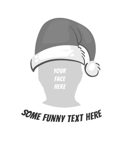 Fun Santa Rubber Stamp