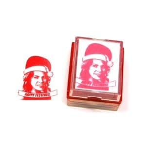 Custom Christmas Rubber Stamp