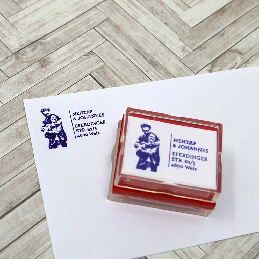 Return Address Rubber Stamp