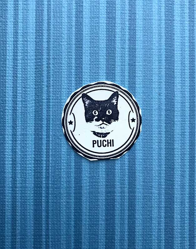 cat photo rubber stamp