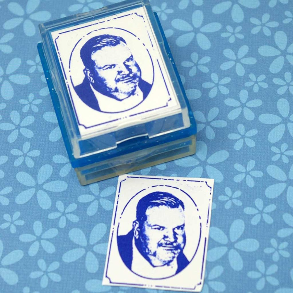 Portrait Rubber Stamp