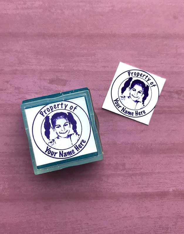 photo birth announcement rubber stamp