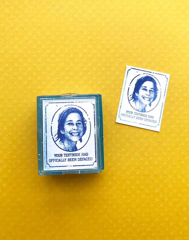 teacher yearbook rubber stamp