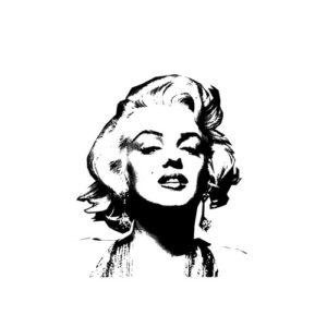 Marilym Monroe Rubber Stamp