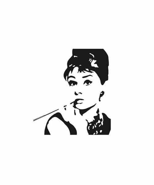 Audrey Hephurn Rubber Stamp