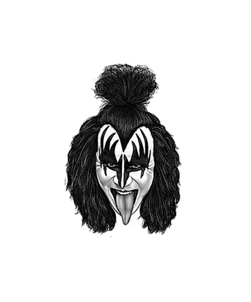 Kiss - Gene Rubber Stamp