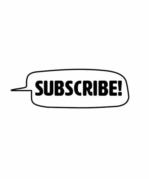 Social Media Rubber Stamp - Subscribe!