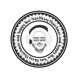 Hip Santa Rubber Stamp