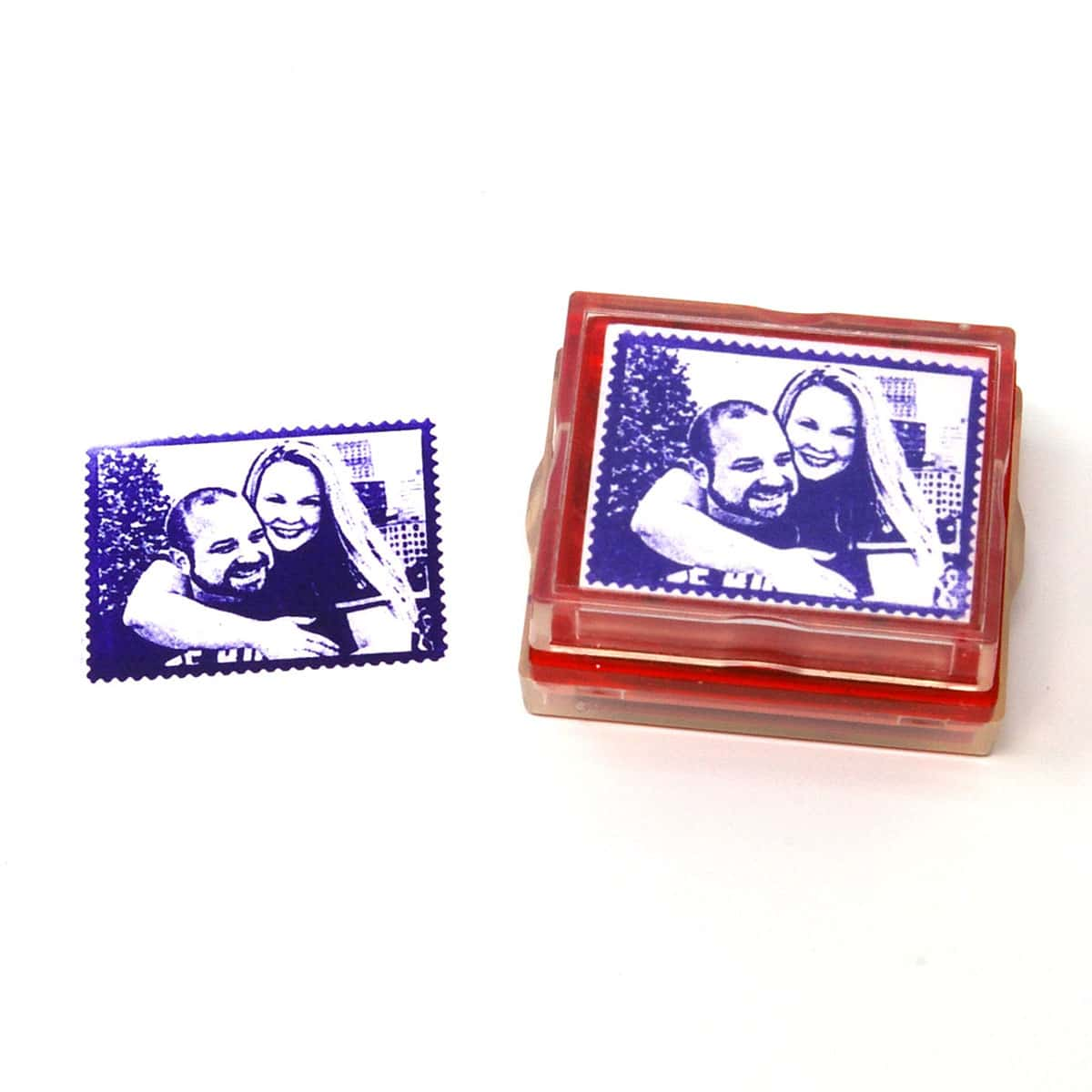 Postage rubber stamp