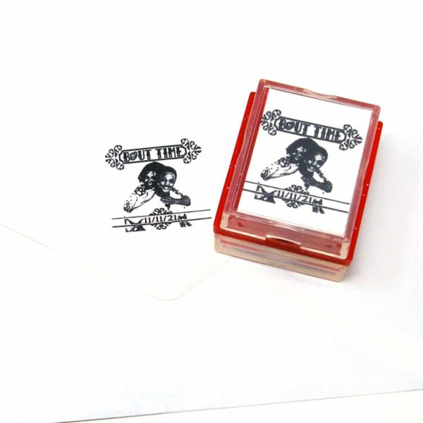 bout time wedding rubber stamp