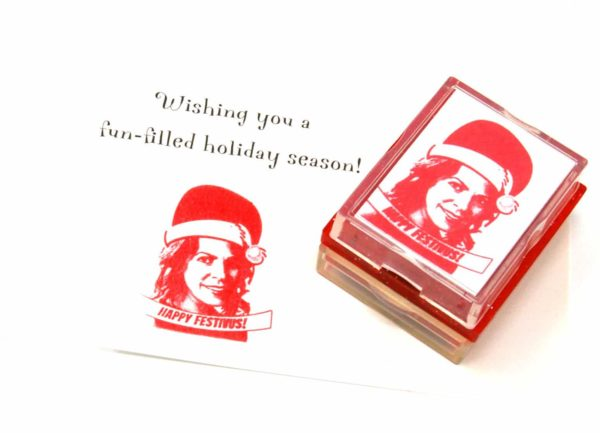 Holiday Rubber Stamp