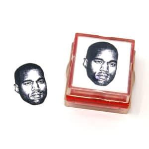 Custom photo gift rubber stamp