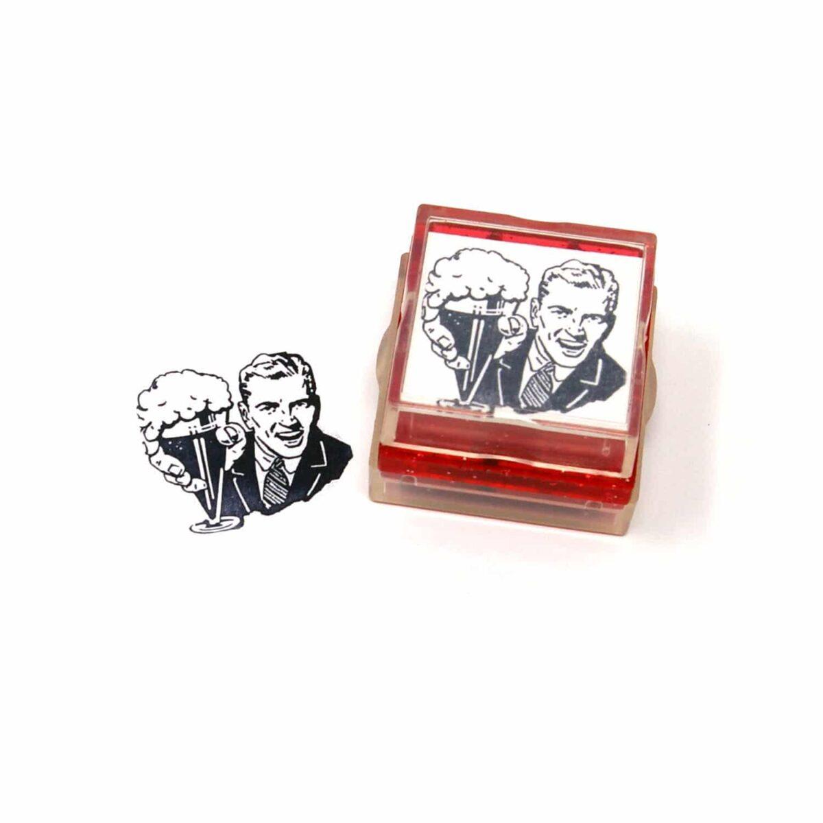 retro vintage rubber stamp
