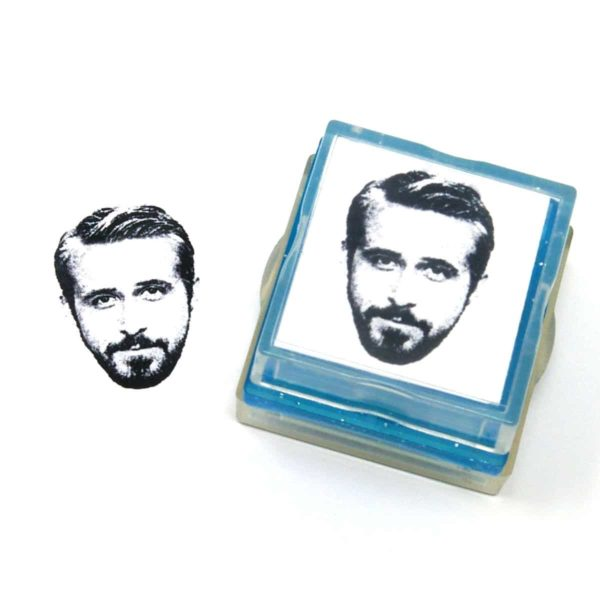 Custom face rubber stamp