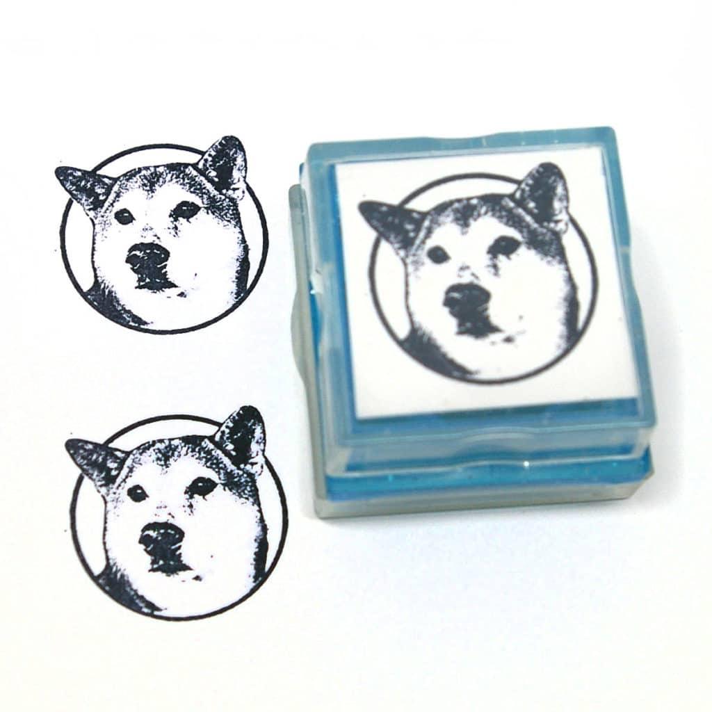 custom dog rubber stamp
