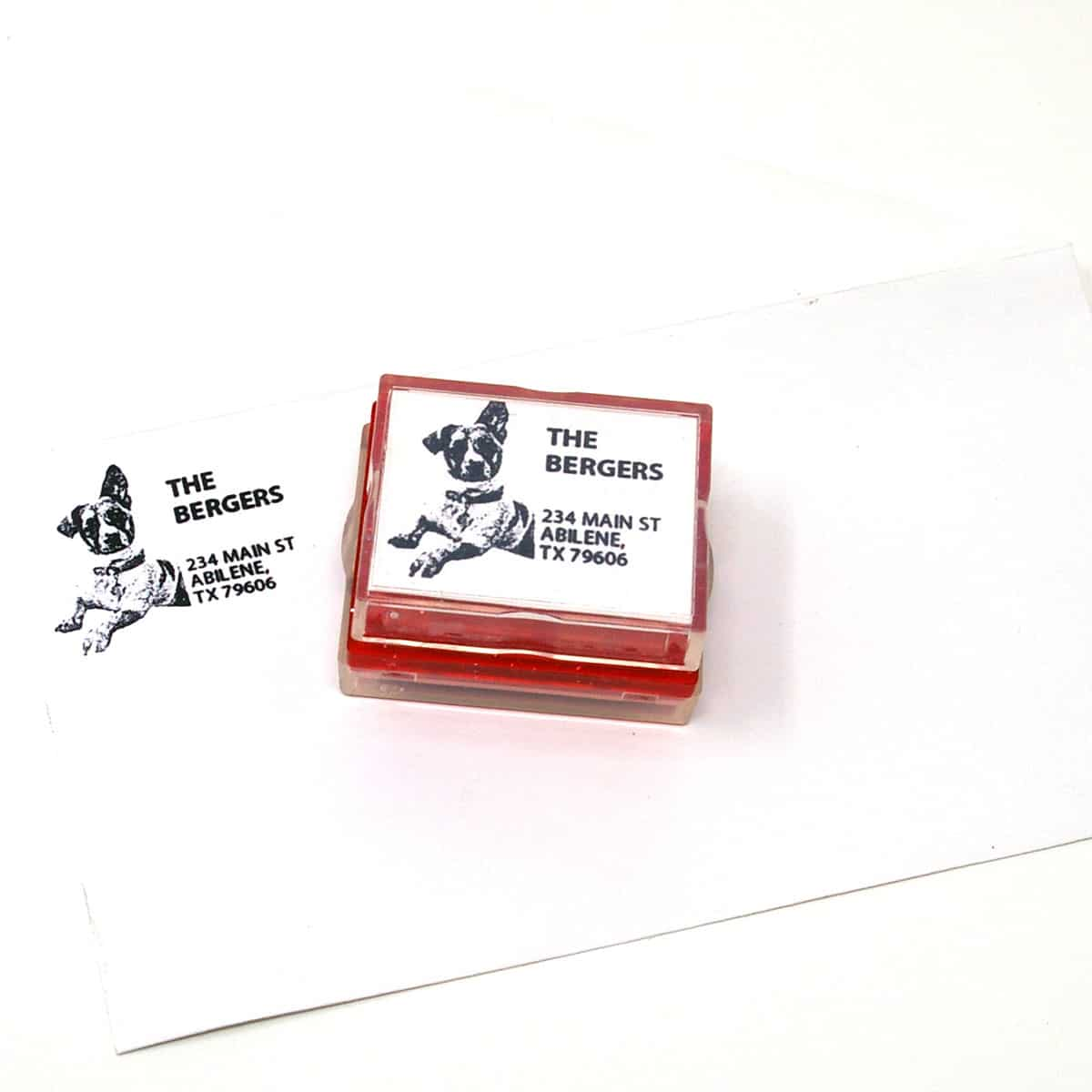 return address rubber stamps