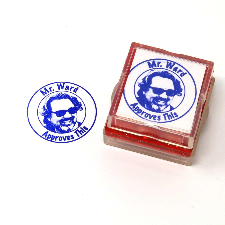 Teacher School Rubber Stamp