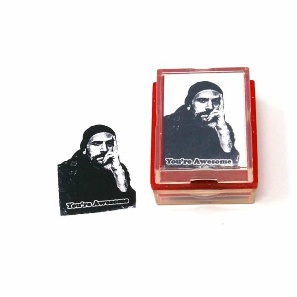custom you're awesome rubber stamp