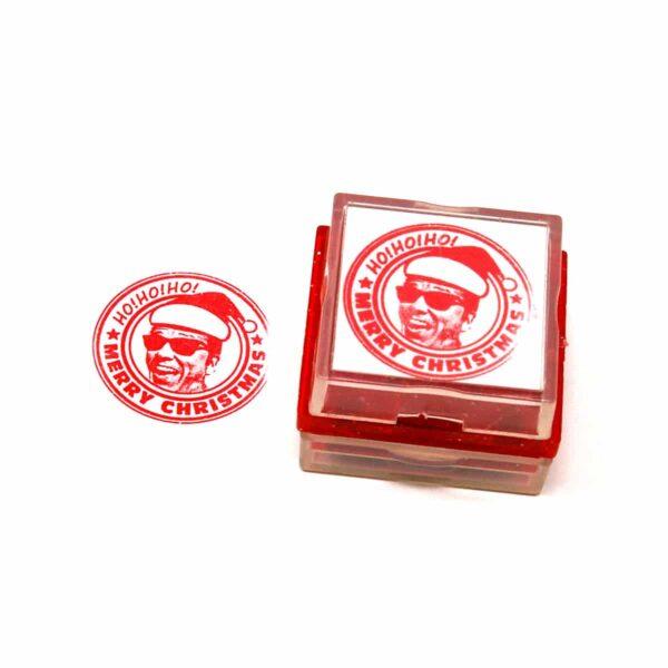 Christmas santa rubber stamp