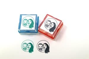 Cartoon rubber stamp