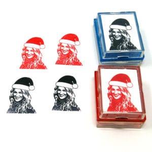 Custom Santa Christmas Rubber Stamp